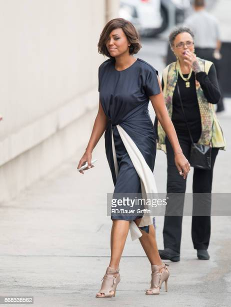 Aisha Tyler is seen at 'Jimmy Kimmel Live' on October 30 2017 in Los Angeles California