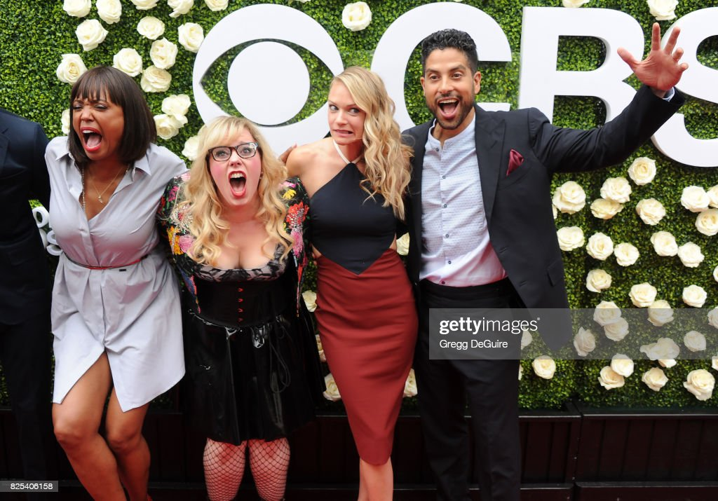 Aisha Tyler, Kirsten Vangsness, A.J. Cook and Adam Rodriguez arrive at the 2017 Summer TCA Tour - CBS Television Studios' Summer Soiree at CBS Studios - Radford on August 1, 2017 in Studio City, California.