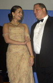 Aishwarya Rai and Harvey Weinstein during 2003 Cannes Film Festival Cinema Against Aids 2003 to benefit amfAR sponsored by Miramax Auction at Moulin...