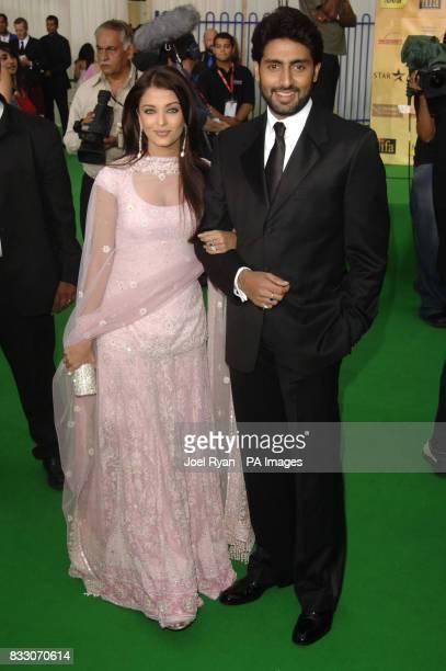 Aishwarya Rai and husband Abhishek Bachchan arrive for the International Indian Film Academy awards at Hallam Arena in Sheffield
