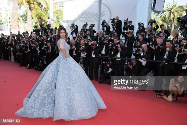 Aishwarya Rai arrives for the screening of the film 'Okja' in competition at the 70th annual Cannes Film Festival in Cannes France on May 19 2017