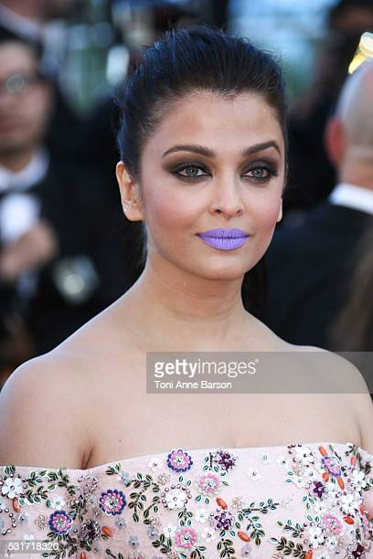 Aishwarya Rai attends a screening of 'From The Land And The Moon ' at the annual 69th Cannes Film Festival at Palais des Festivals on May 15 2016 in...