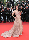 Aishwarya Rai attends a screening of 'The BFG' at the annual 69th Cannes Film Festival at Palais des Festivals on May 14 2016 in Cannes France