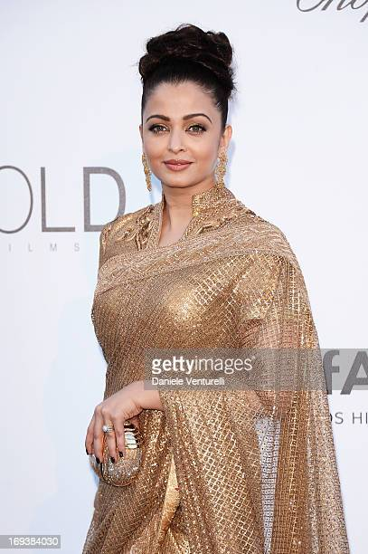 Aishwarya Rai attends amfAR's 20th Annual Cinema Against AIDS during The 66th Annual Cannes Film Festival at Hotel du CapEdenRoc on May 23 2013 in...