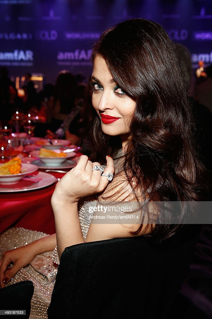 Aishwarya Rai attends amfAR's 21st Cinema Against AIDS Gala Presented By WORLDVIEW BOLD FILMS And BVLGARI at Hotel du CapEdenRoc on May 22 2014 in...