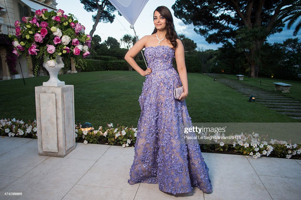 <a gi-track='captionPersonalityLinkClicked' href=/galleries/search?phrase=Aishwarya+Rai&family=editorial&specificpeople=202237 ng-click='$event.stopPropagation()'>Aishwarya Rai</a> attends amfAR's 22nd Cinema Against AIDS Gala, Presented By Bold Films And Harry Winston at Hotel du Cap-Eden-Roc on May 21, 2015 in Cap d'Antibes, France.