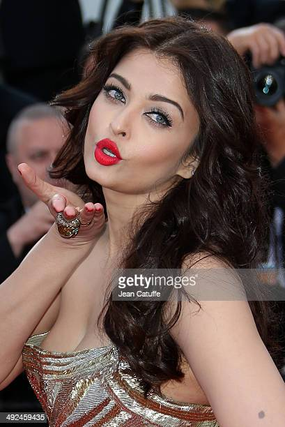 Aishwarya Rai attends 'Deux Jours Une Nuit' premiere during the 67th Annual Cannes Film Festival on May 20 2014 in Cannes France