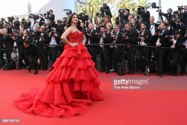Aishwarya Rai attends the '120 Battements Par Minutes ' screening during the 70th annual Cannes Film Festival at Palais des Festivals on May 20 2017...