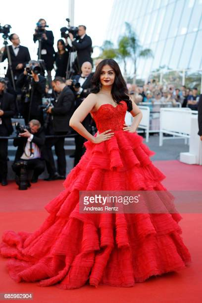 Aishwarya Rai attends the '120 Beats Per Minute ' screening during the 70th annual Cannes Film Festival at Palais des Festivals on May 20 2017 in...
