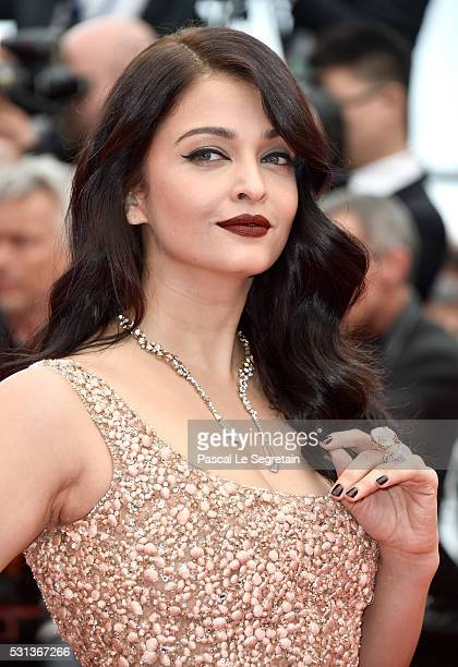 Aishwarya Rai attends 'The BFG ' premiere during the 69th annual Cannes Film Festival at the Palais des Festivals on May 14 2016 in Cannes France
