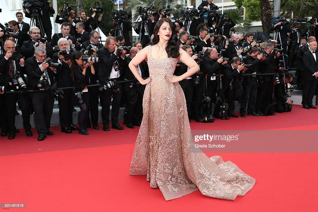 Aishwarya Rai attends 'The BFG (Le Bon Gros Geant - Le BGG)' premiere during the 69th annual Cannes Film Festival at the Palais des Festivals on May 14, 2016 in Cannes, France.