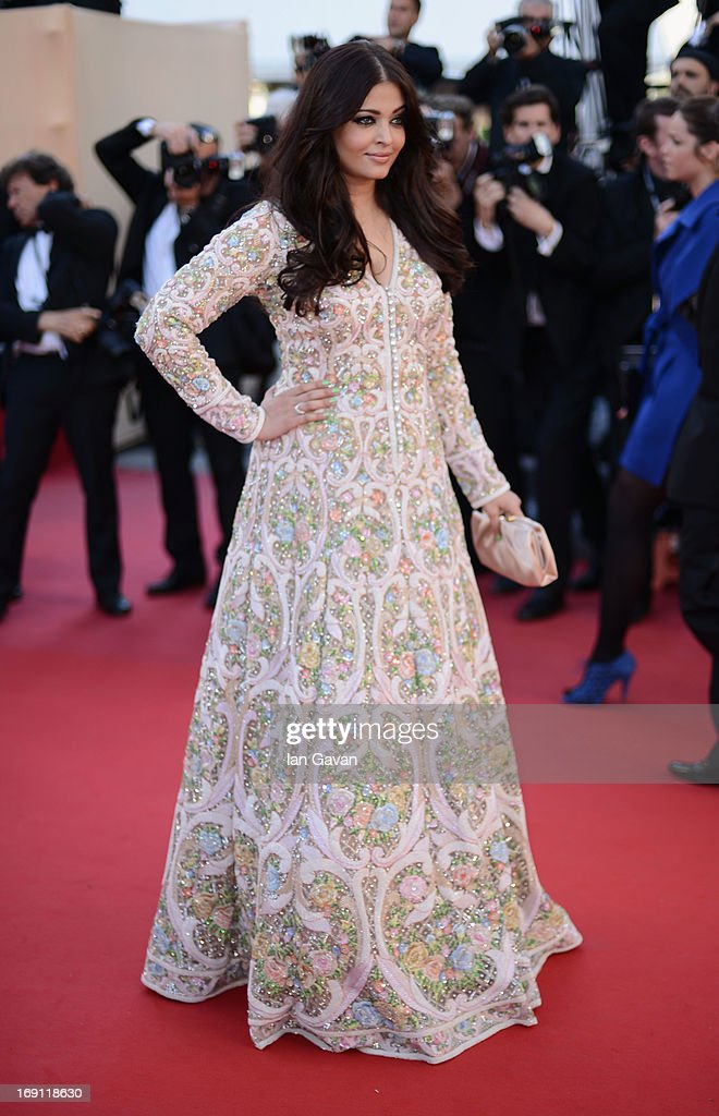 Aishwarya Rai attends the 'Blood Ties' Premiere during the 66th Annual Cannes Film Festival at Grand Theatre Lumiere on May 20, 2013 in Cannes, France.