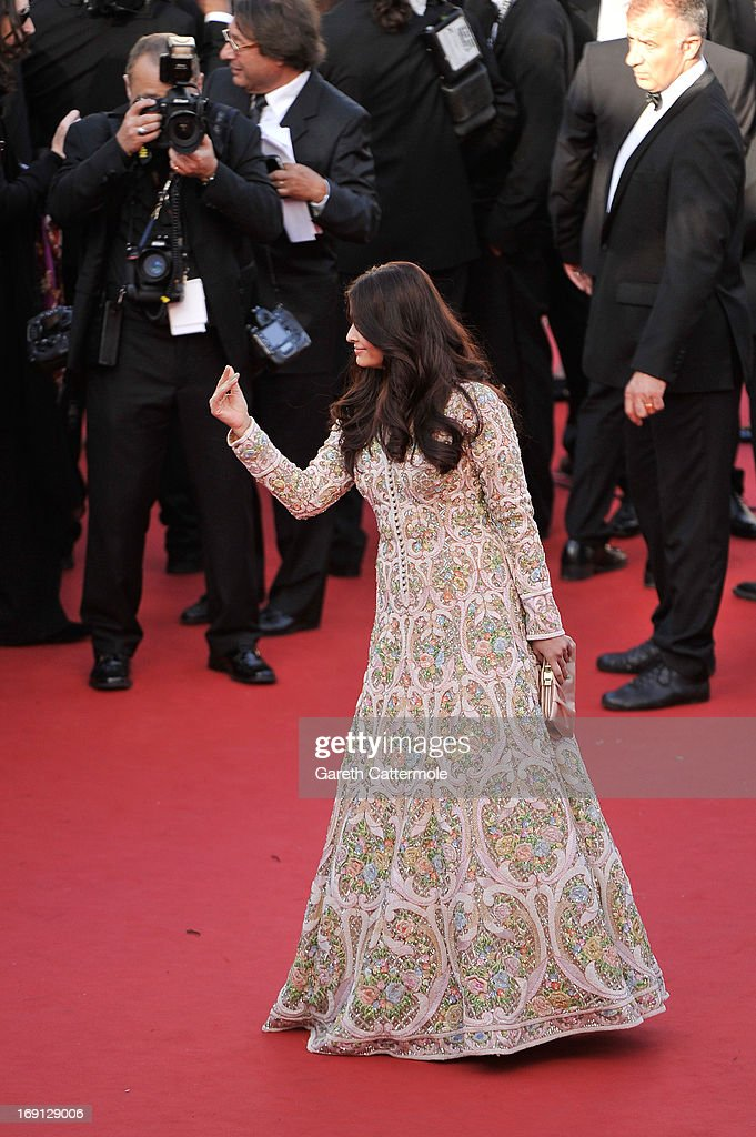 Aishwarya Rai attends the 'Blood Ties' Premiere during the 66th Annual Cannes Film Festival at the Palais des Festivals on May 20, 2013 in Cannes, France.