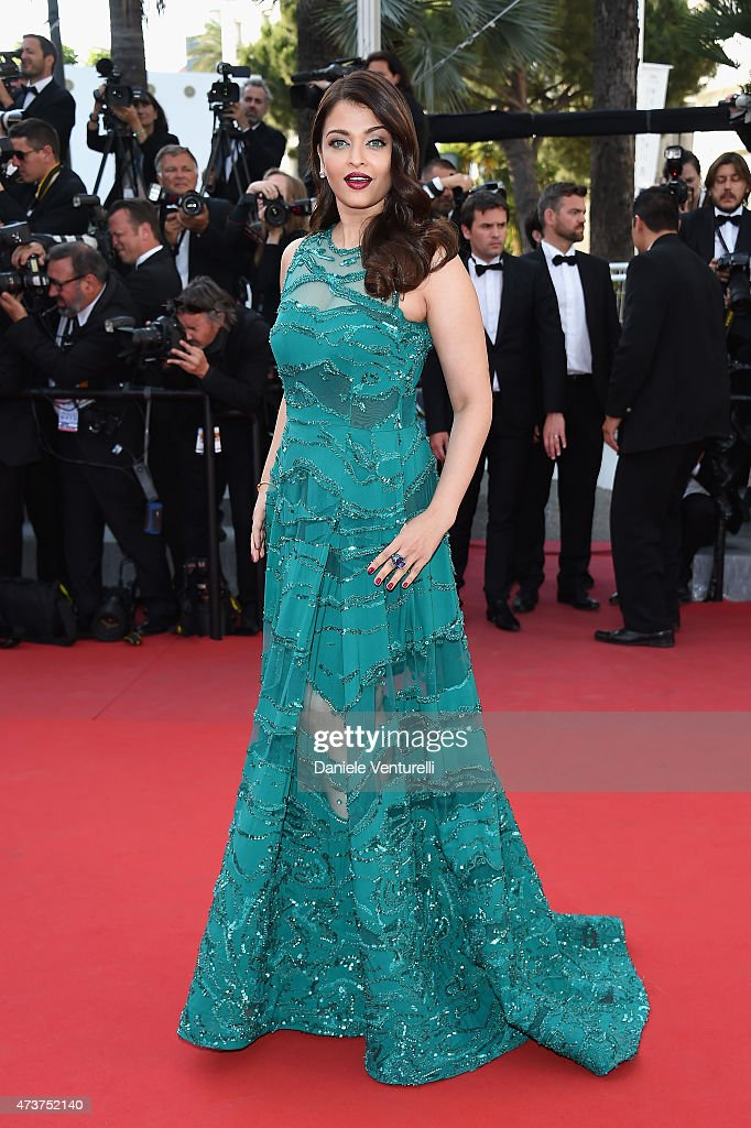 Aishwarya Rai attends the 'Carol' Premiere during the 68th annual Cannes Film Festival on May 17 2015 in Cannes France