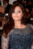 Aishwarya Rai attends the 'Cosmopolis' premiere during the 65th Annual Cannes Film Festival at Palais des Festivals on May 25 2012 in Cannes France