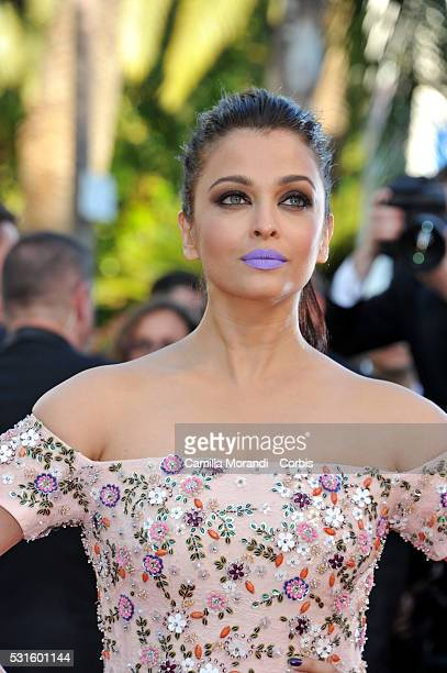 Aishwarya Rai attends the 'From The Land And The Moon ' Red carpet at the annual 69th Cannes Film Festival at Palais des Festivals on May 15 2016 in...