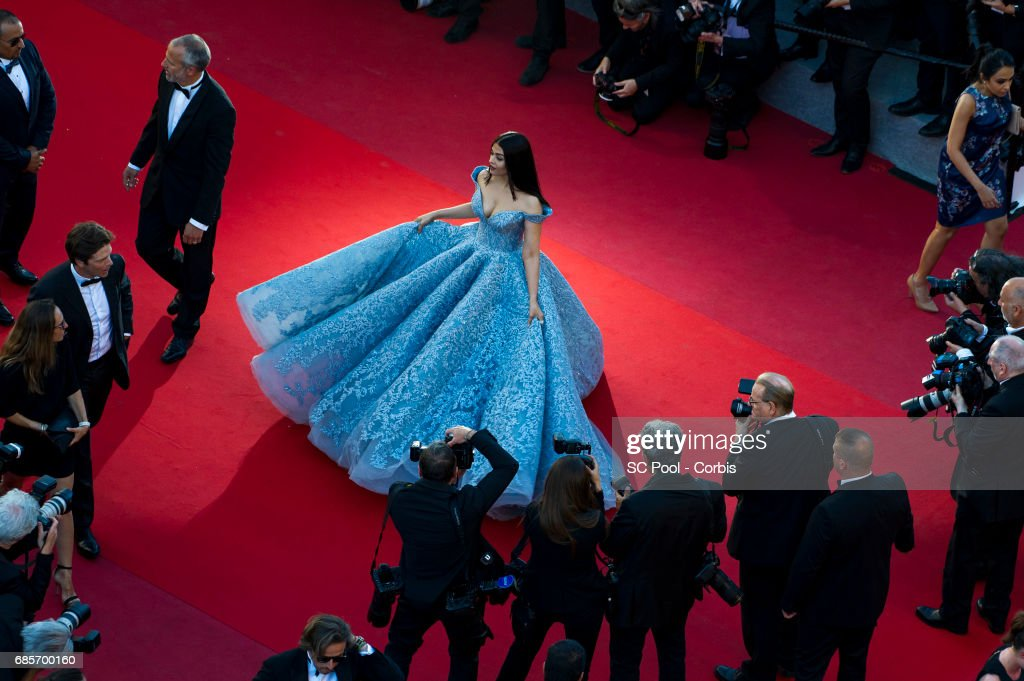 Aishwarya Rai attends the 'Okja' premiere during the 70th annual Cannes Film Festival at Palais des Festivals on May 19, 2017 in Cannes, France.
