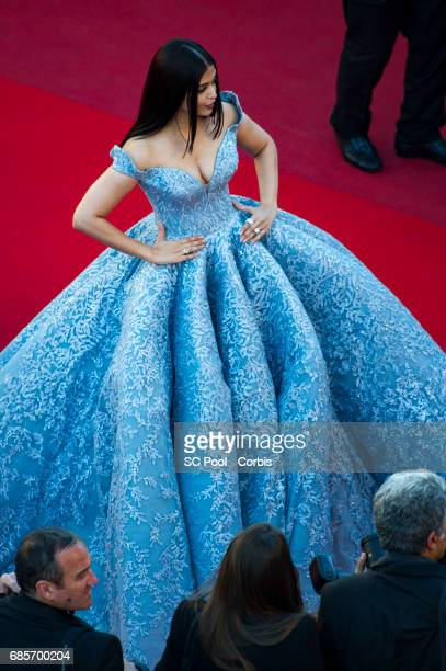 Aishwarya Rai attends the 'Okja' premiere during the 70th annual Cannes Film Festival at Palais des Festivals on May 19 2017 in Cannes France
