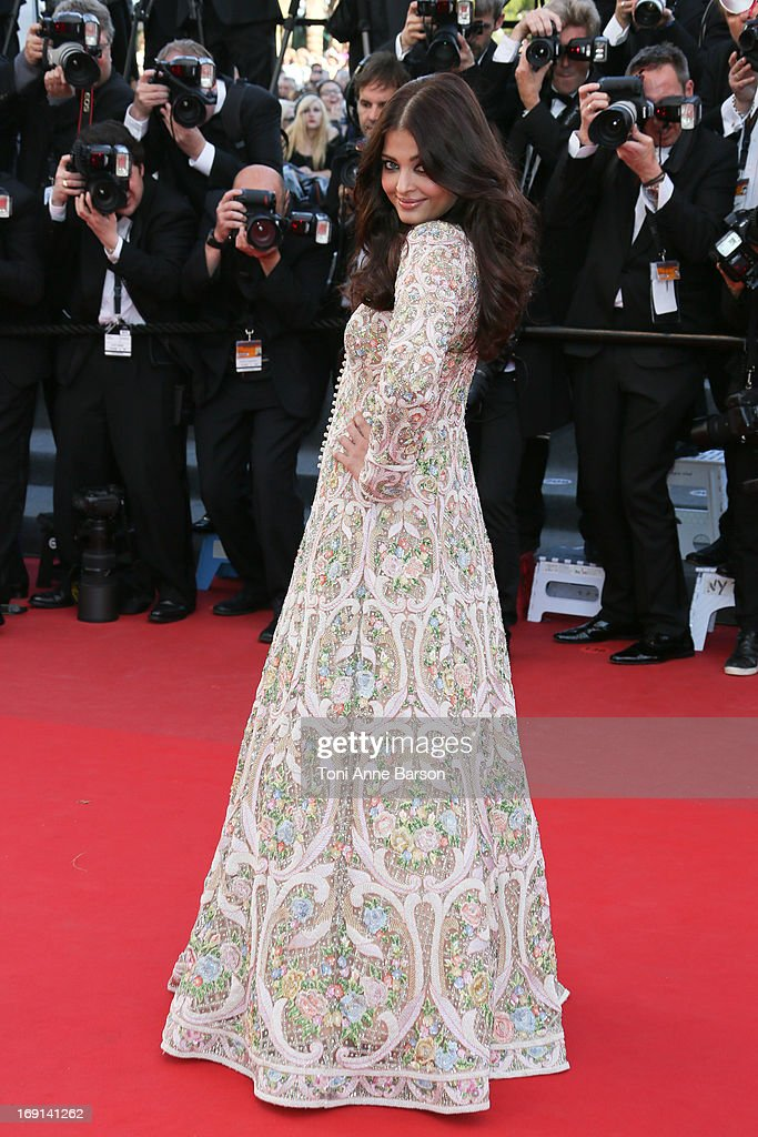 Aishwarya Rai attends the Premiere of 'Blood Ties' during the 66th Annual Cannes Film Festival at the Palais des Festivals on May 20, 2013 in Cannes, France.