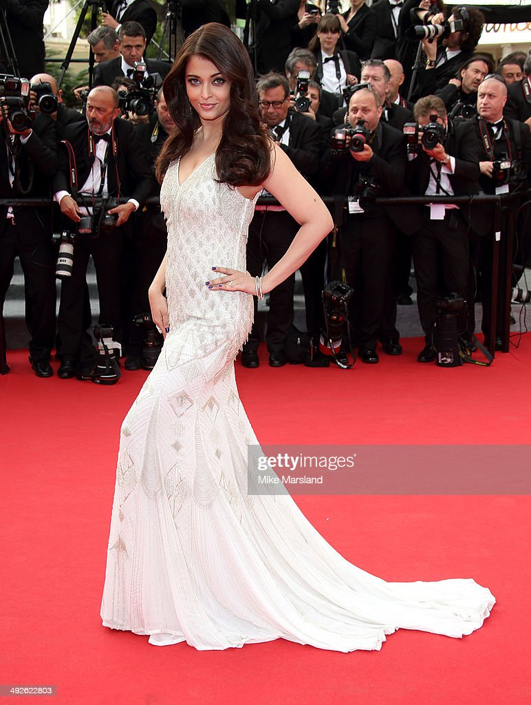 <a gi-track='captionPersonalityLinkClicked' href=/galleries/search?phrase=Aishwarya+Rai&family=editorial&specificpeople=202237 ng-click='$event.stopPropagation()'>Aishwarya Rai</a> attends 'The Search' Premiere at the 67th Annual Cannes Film Festival on May 21, 2014 in Cannes, France.