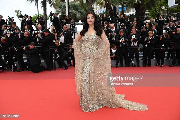 Aishwarya Rai attends the 'Slack Bay ' premiere during the 69th annual Cannes Film Festival at the Palais des Festivals on May 13 2016 in Cannes