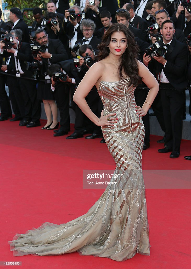 <a gi-track='captionPersonalityLinkClicked' href=/galleries/search?phrase=Aishwarya+Rai&family=editorial&specificpeople=202237 ng-click='$event.stopPropagation()'>Aishwarya Rai</a> attends the 'Two Days, One Night' premiere at the 67th Annual Cannes Film Festival on May 20, 2014 in Cannes, France.