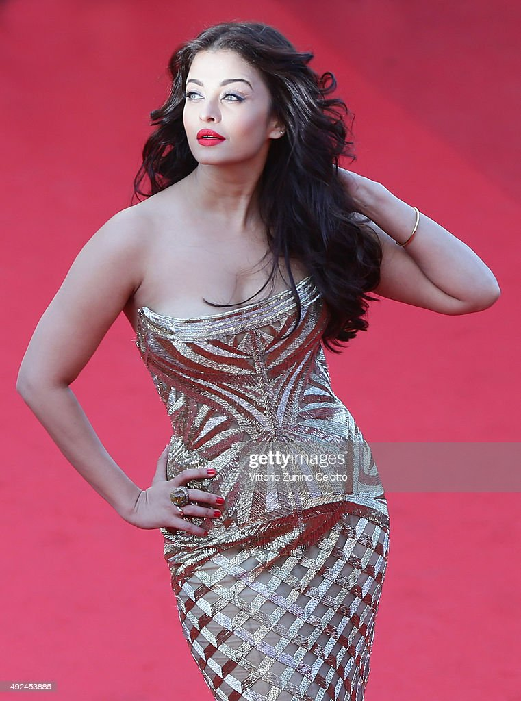 <a gi-track='captionPersonalityLinkClicked' href=/galleries/search?phrase=Aishwarya+Rai&family=editorial&specificpeople=202237 ng-click='$event.stopPropagation()'>Aishwarya Rai</a> attends the 'Two Days, One Night' (Deux Jours, Une Nuit) premiere during the 67th Annual Cannes Film Festival on May 20, 2014 in Cannes, France.