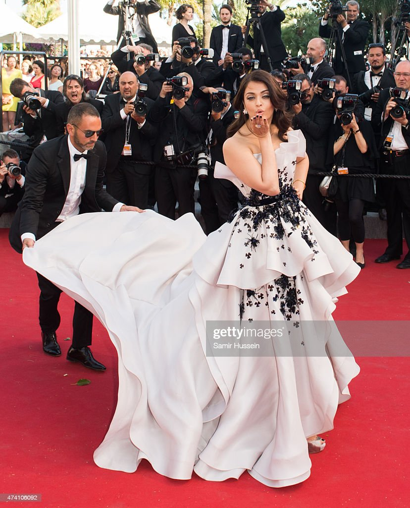 <a gi-track='captionPersonalityLinkClicked' href=/galleries/search?phrase=Aishwarya+Rai&family=editorial&specificpeople=202237 ng-click='$event.stopPropagation()'>Aishwarya Rai</a> attends the 'Youth' Premiere during the 68th annual Cannes Film Festival on May 20, 2015 in Cannes, France.