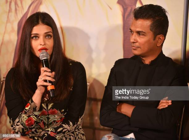 Aishwarya Rai Bachchan and Vikram Phadnis during the music launch of marathi film Hrudayantar in Mumbai