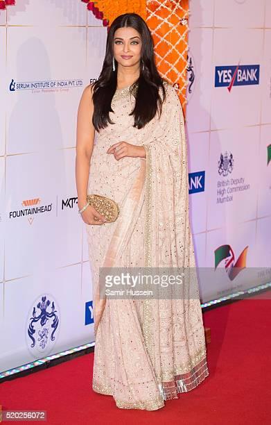 Aishwarya Rai Bachchan arrives at a Bollywood Inspired Charity Gala at the Taj Mahal Palace Hotel during the royal visit to India and Bhutan on April...