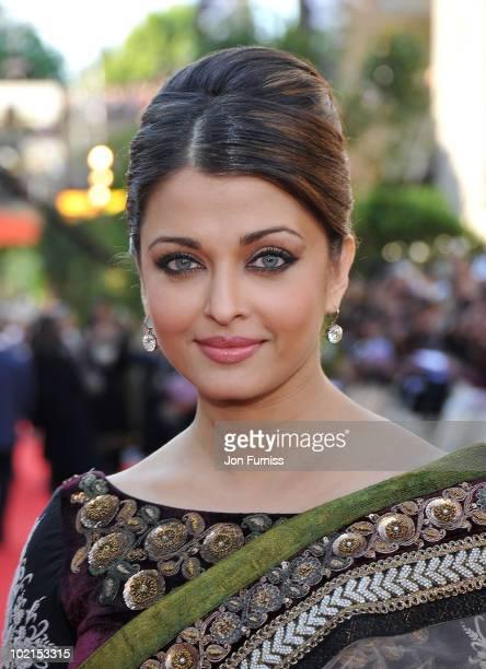Aishwarya Rai Bachchan arrives at the London premiere of 'Raavan' at BFI Southbank on June 16 2010 in London England