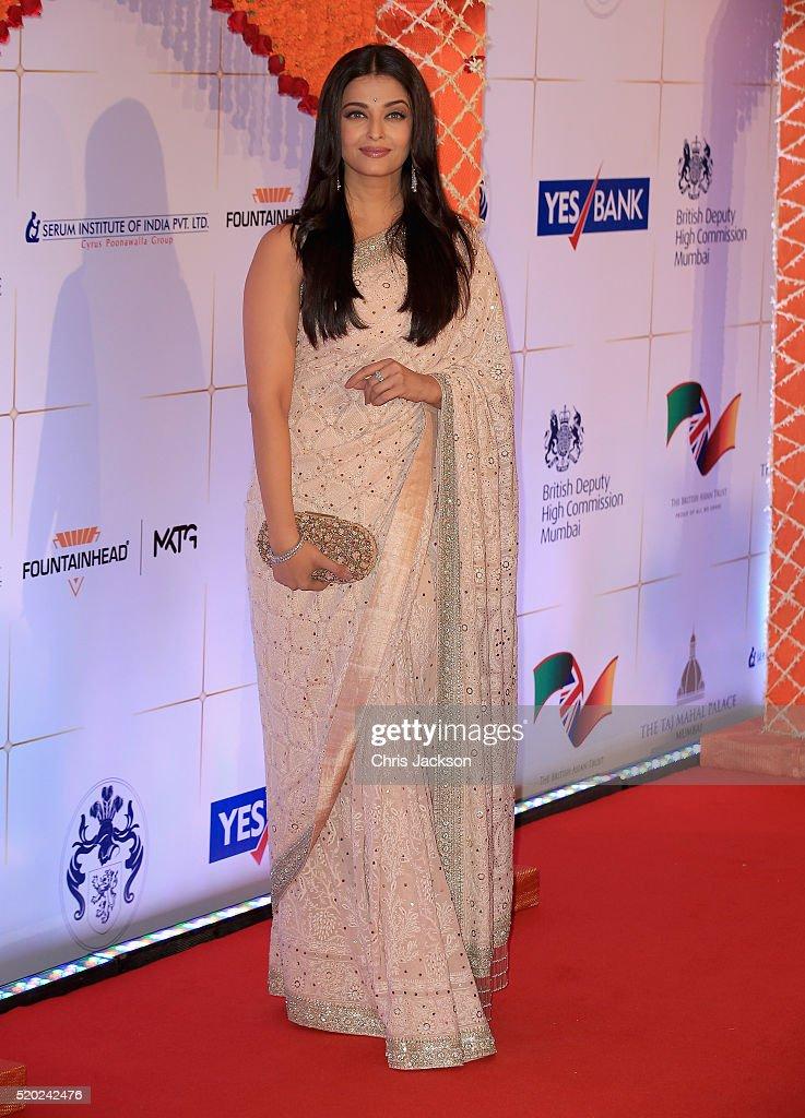Aishwarya Rai Bachchan arrives for a Bollywood Inspired Charity Gala at the Taj Mahal Palace Hotel during the royal visit to India and Bhutan on...