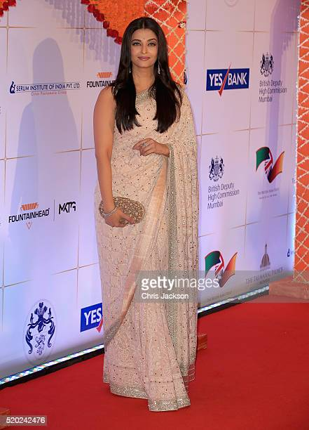 Aishwarya Rai Bachchan arrives for a Bollywood Inspired Charity Gala at the Taj Mahal Palace Hotel during the royal visit to India and Bhutan on...