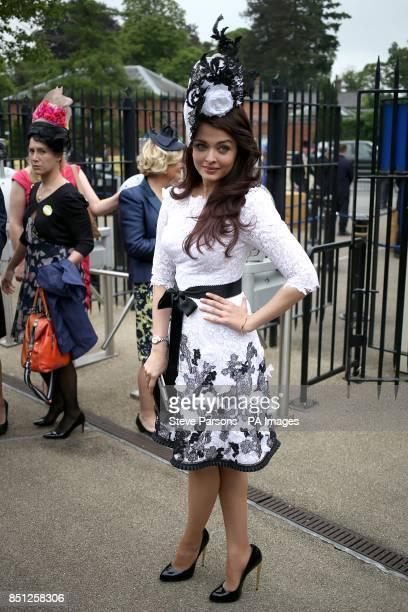 Aishwarya Rai Bachchan arrives on day one of the Royal Ascot Meeting at Ascot Racecourse Berkshire