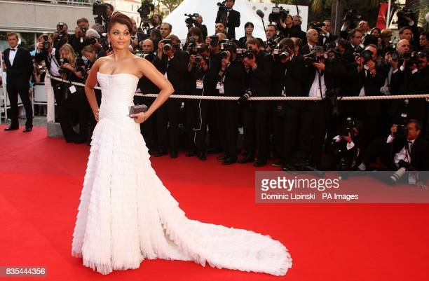 Aishwarya Rai Bachchan arriving at the Up premiere at the Palais de Festival during the 62nd Cannes Film Festival France