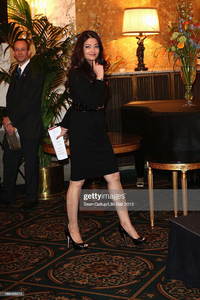 Aishwarya Rai Bachchan attends the 'Life Ball 2013 - Press Conference' at Hotel Imperial Vienna on May 25, 2013 in Vienna, Austria.