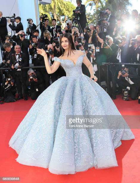 Aishwarya Rai Bachchan attends the 'Okja' screening during the 70th annual Cannes Film Festival at Palais des Festivals on May 19 2017 in Cannes...
