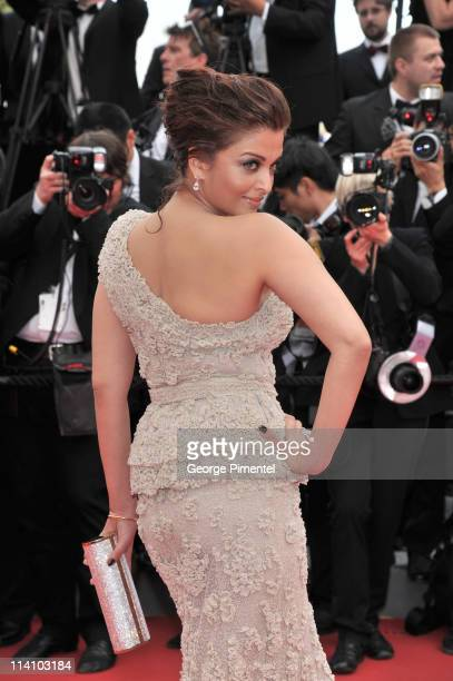 Aishwarya Rai Bachchan attends the Opening Ceremony and 'Midnight In Paris' Premiere at the Palais des Festivals during the 64th Cannes Film Festival...