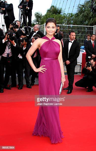 Aishwarya Rai Bachchan attends the Premiere of 'Wall Street Money Never Sleeps' held at the Palais des Festivals during the 63rd Annual International...