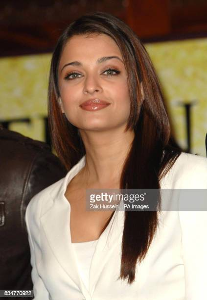 Aishwarya Rai Bachchan pictured during a photocall for the 'Unforgettable Tour' the biggest ever Bollywood stage show at the Crown Plaza St James...