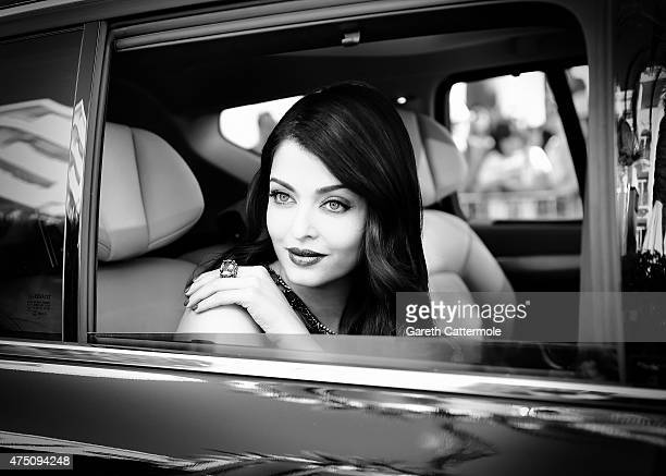 Aishwarya Rai departs the Martinez Hotel during the 68th annual Cannes Film Festival on May 17 2015 in Cannes France