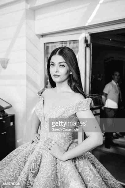 Aishwarya Rai departs the Martinez Hotel during the 70th annual Cannes Film Festival on May 19 2017 in Cannes France