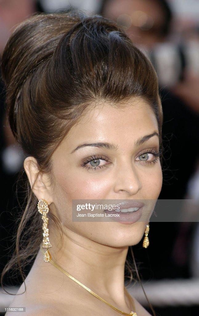 Aishwarya Rai during 2003 Cannes Film Festival - 'Les Egares' Premiere at Palais Des Festival in Cannes, France.