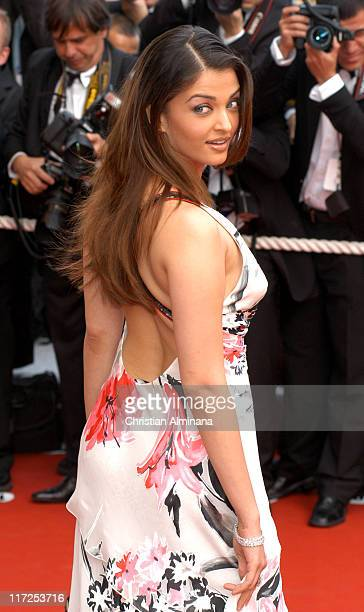 Aishwarya Rai during 2005 Cannes Film Festival Match Point Premiere in Cannes France