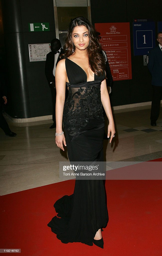 <a gi-track='captionPersonalityLinkClicked' href=/galleries/search?phrase=Aishwarya+Rai&family=editorial&specificpeople=202237 ng-click='$event.stopPropagation()'>Aishwarya Rai</a> during 2005 Cannes Film Festival - Opening Gala Dinner at Palais des Festival in Cannes, France.