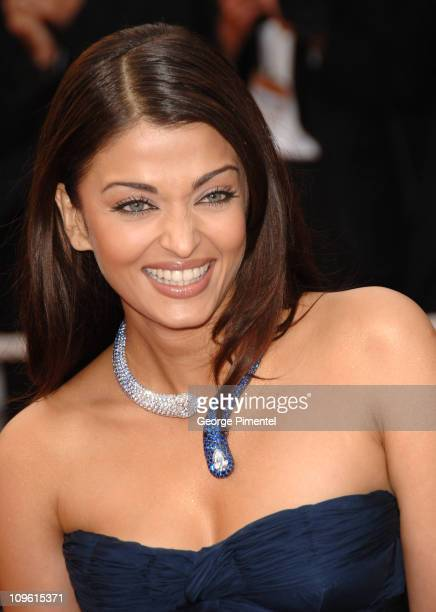 Aishwarya Rai during 2006 Cannes Film Festival 'The Wind That Shakes The Barley' Premiere at Palais Du Festival in Cannes France