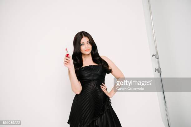 Aishwarya Rai is photographed at the L'Oreal Paris Beach Studio during the 70th annual Cannes Film Festival on May 20 2017 in Cannes France