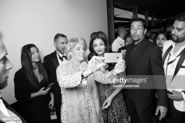 Aishwarya Rai is photographed in the L' Oreal Paris Cinema Club on May 20 2017 in Cannes France