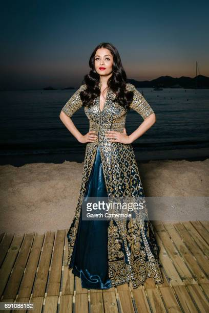 Aishwarya Rai is photographed in the L'Oreal Paris Cinema Club during the 70th annual Cannes Film Festival on May 20 2017 in Cannes France