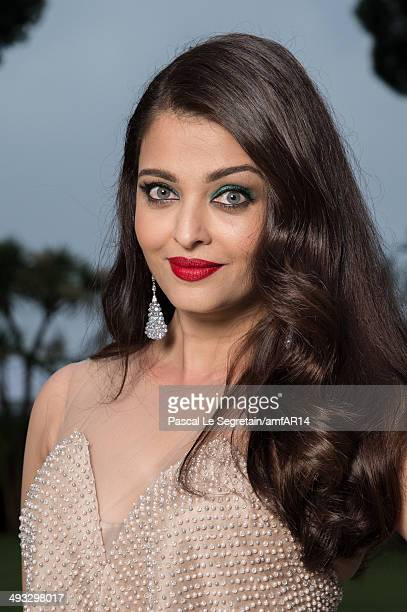 Aishwarya Rai poses for a portrait at amfAR's 21st Cinema Against AIDS Gala Presented By WORLDVIEW BOLD FILMS And BVLGARI at Hotel du CapEdenRoc on...